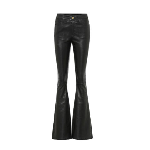 Flared leather pant