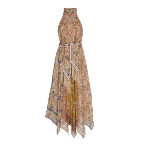 Freja scarf hem long dress