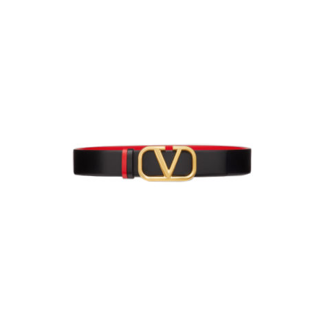 V logo belt