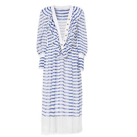 Chiffon striped dress