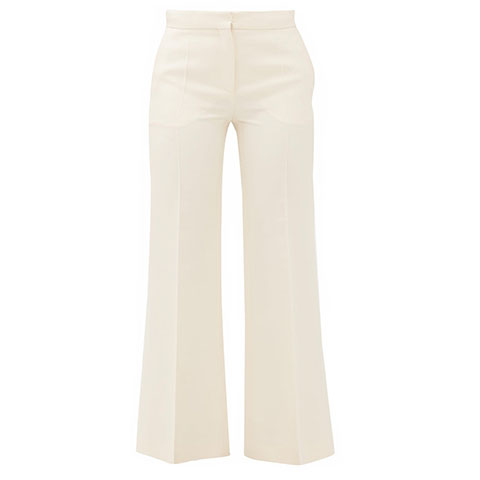 Kick flare trousers