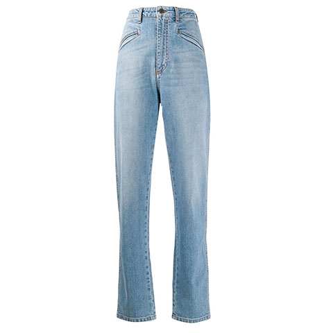 Highrise straight leg jeans