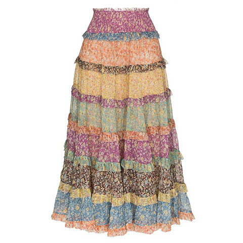 Carnaby tiered maxi skirt