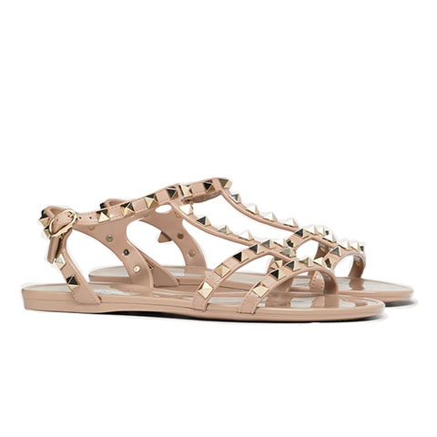 Rubber sandal rockstuds