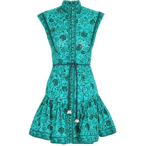 Lulu panelled flip mini dress